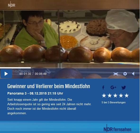 Bild zur NDR:Sendung: Gewinner und Verlierer beim Mindestlohn