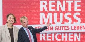 Vorstellung der DGB-Rentenkampagne mit Reiner Hoffmann und Annelie Buntenbach