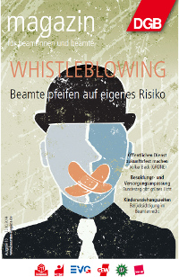 Titel Beamtenmagazin zum Thema Whistleblowing