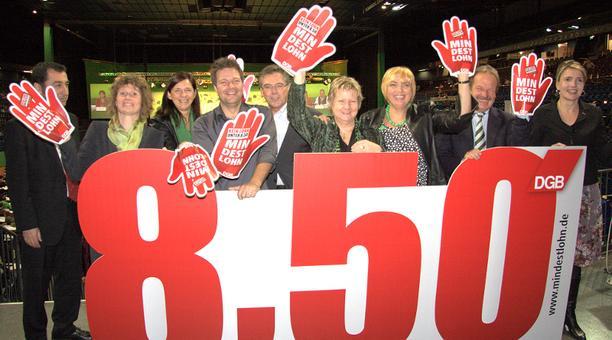 Mindestlohnaktion beim Parteitag Bündnis90/die Grünen in Kiel 2011
