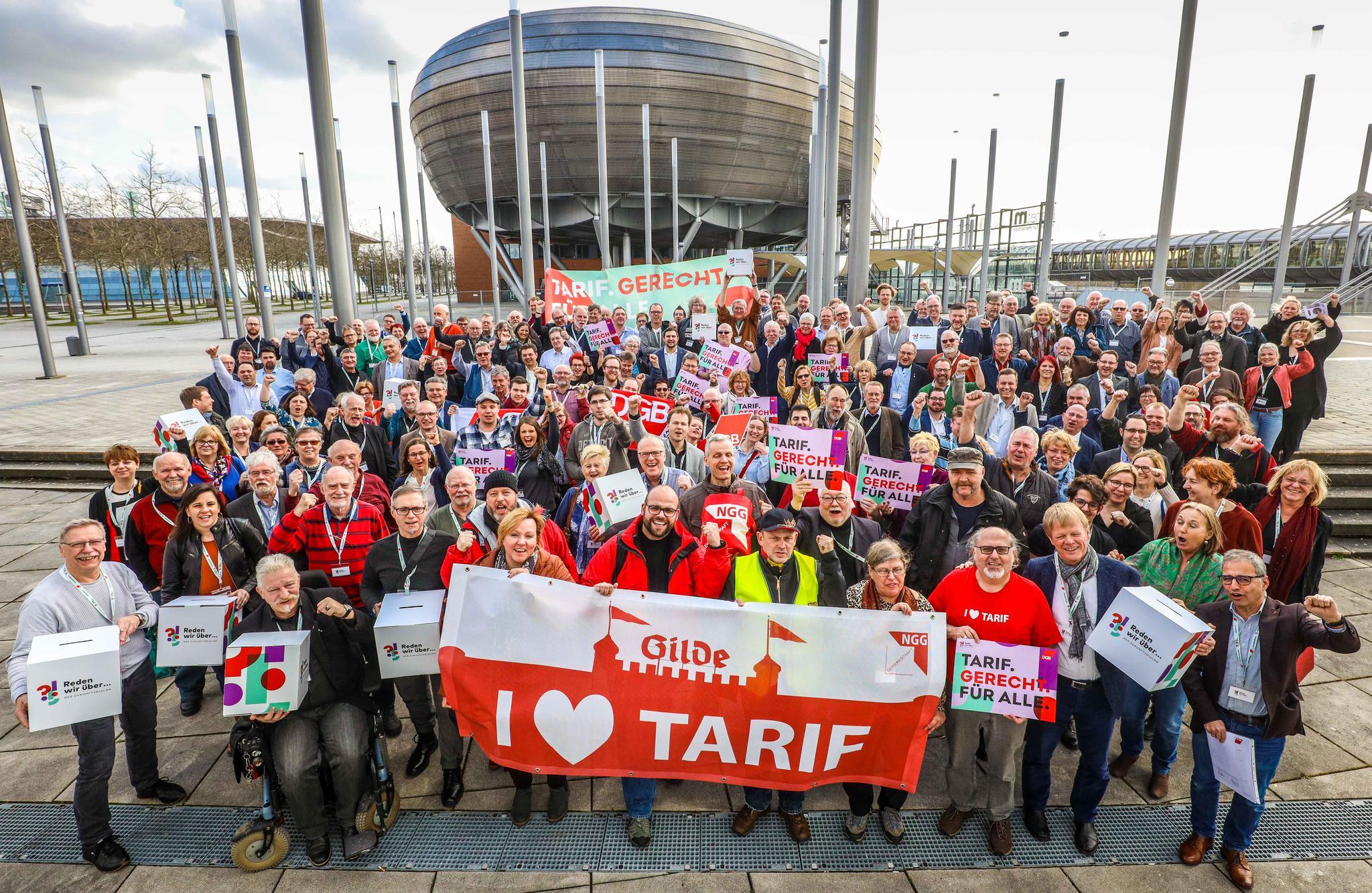 DGB zeigt Solidarität mit Kolleg/inne der Gilde Brauerei Hannover