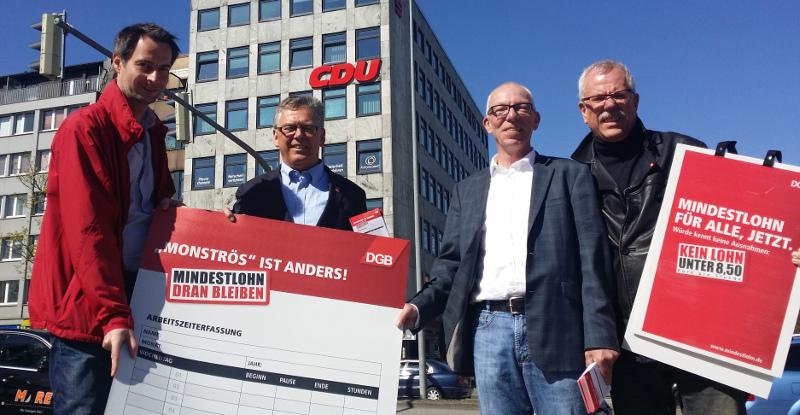 DGB Nord vor der CDU-Zentrale in Nord