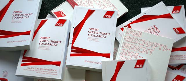 Unterlagen zum 19. DGB Bundeskongress