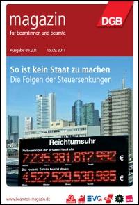 Titelbild Beamtenmagazin 9/2011