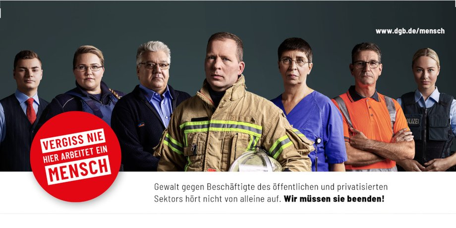 Logo Save the Date: Veranstaltung Gewalt gegen Beschäftigte im öffentlichen Dienst