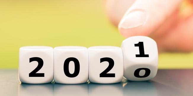 Das neue Jahr 2021 beginnt.