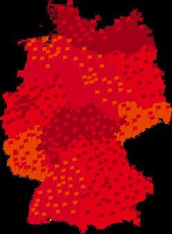 Deutschlandkarte DGB-Bezirke/Kreis- und Standverbände