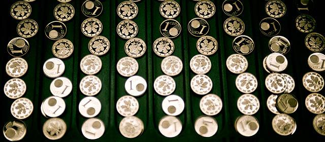 Ein-Cent-Münzen