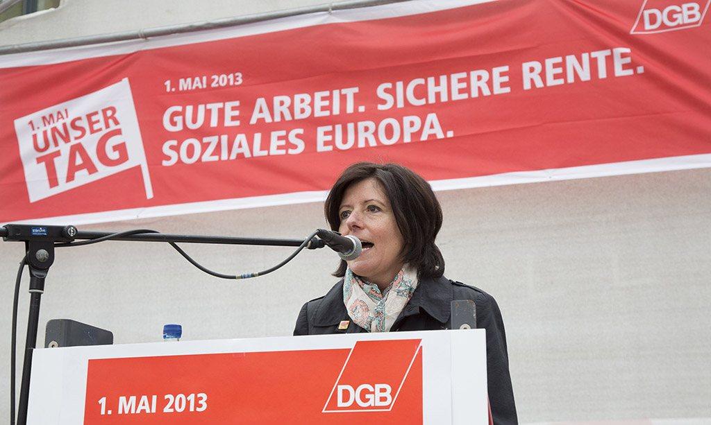 Koblenz Malu Dreyer bei der Mai-Kundgebung
