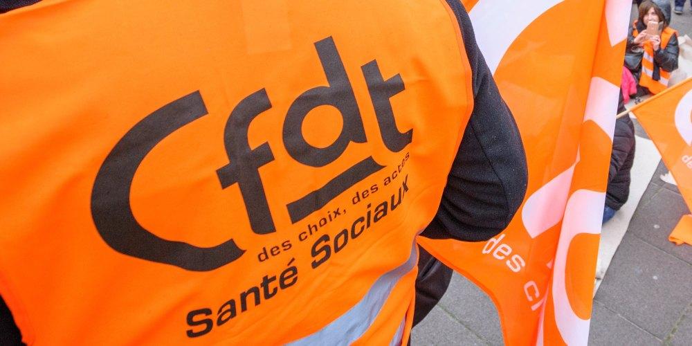 Logo französischer Gewerkschaftsbund Confédération Francaise Démocratique du Travail (CFDT)