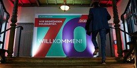 Eingangsbereich der Festveranstaltung 70 Jahre DGB am 21.10.2019 in Berlin