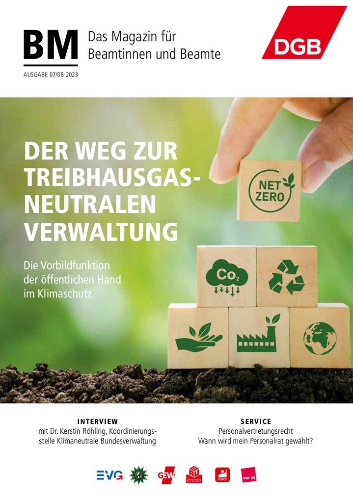DGB-Magazin für Beamtinnen und Beamte Titelbild der aktuellen Ausgabe