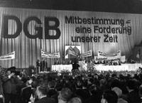 DGB–Vorsitzender Ludwig Rosenberg, DGB–Kundgebung zur Mitbestimmung in Köln.
