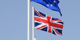 Fahnen EU / Großbritannien