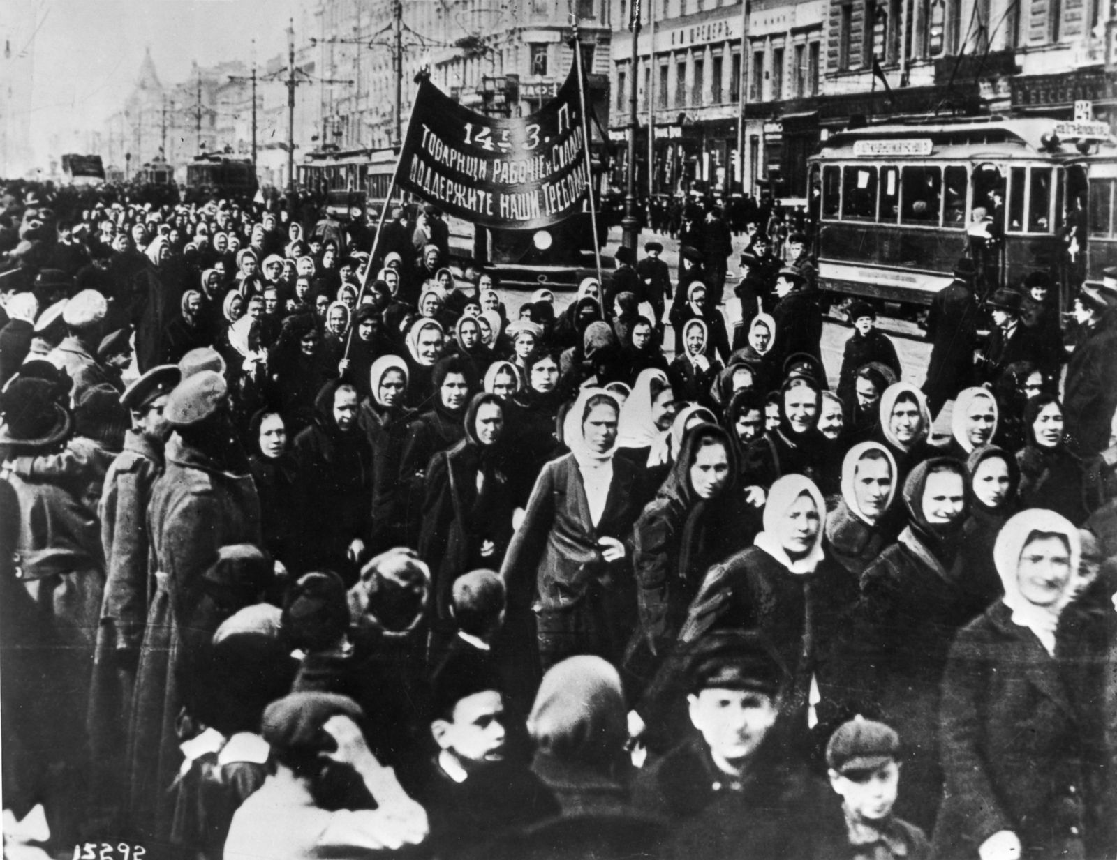 Proteste der Frauen in Petrograd 1917