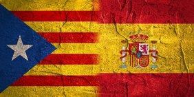 Flagge Katalonien Spanien
