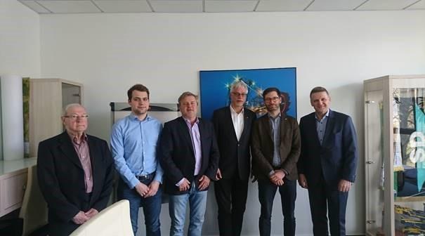 Die DGB-Delegation aus der Bundesvorstandsverwaltung und dem Bezirk Sachsen zu Besuch in Chomutov.