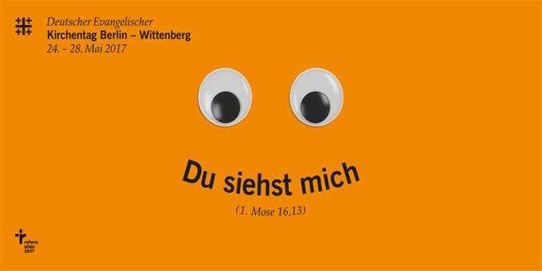 Logobild mit Motto Du siehst mich zum 36. Deutscher Evangelischer Kirchentag in Berlin