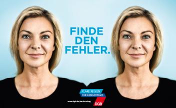 Finde den Fehler:  Plakat zur Werkvertragskampagne