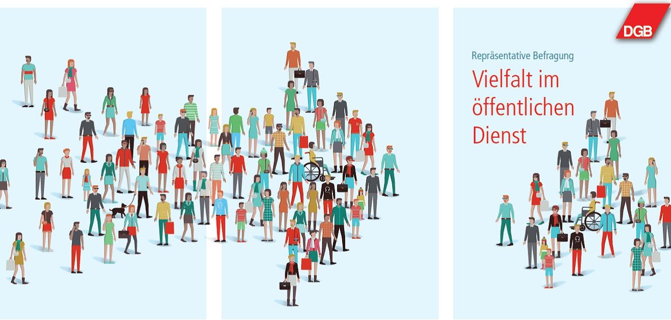 Cover Repräsentative Befragung: Vielfalt im öffentlichen Dienst