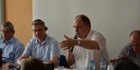 DGB-Vorstandsmitglied Stefan Körzell bei der FES-Warschau