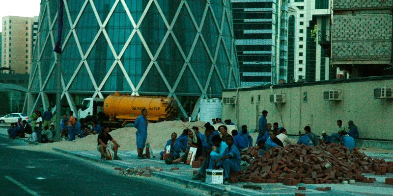 Arbeiter in Doha, Katar