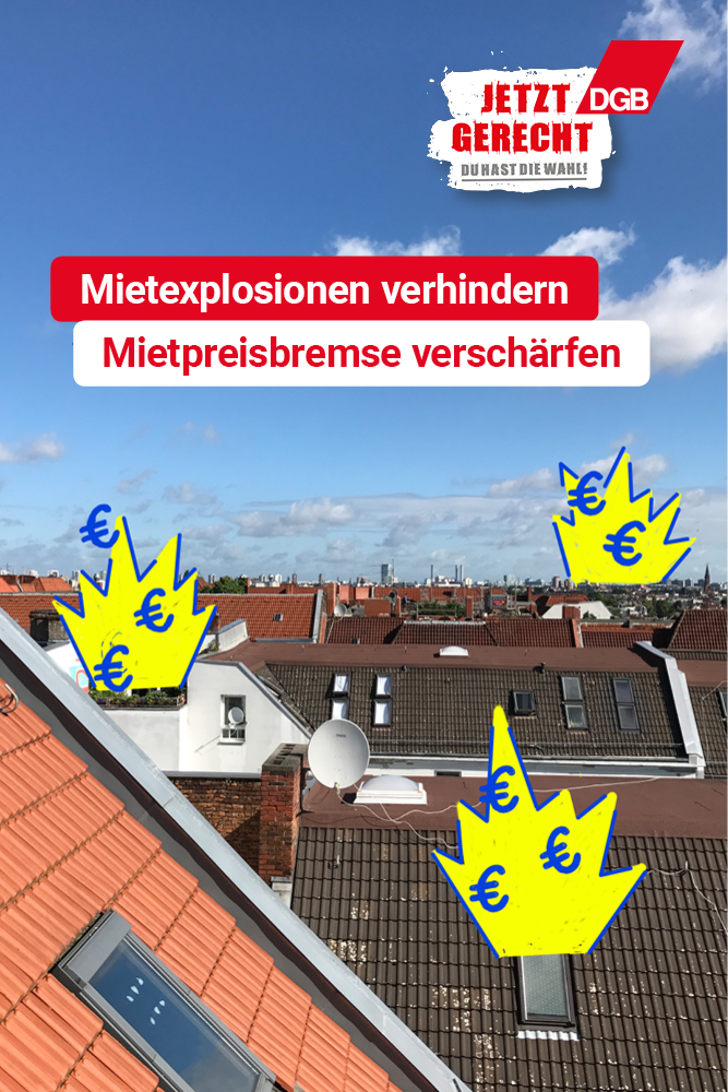 Kampagnenmotiv: Mietexplosionen verhindern