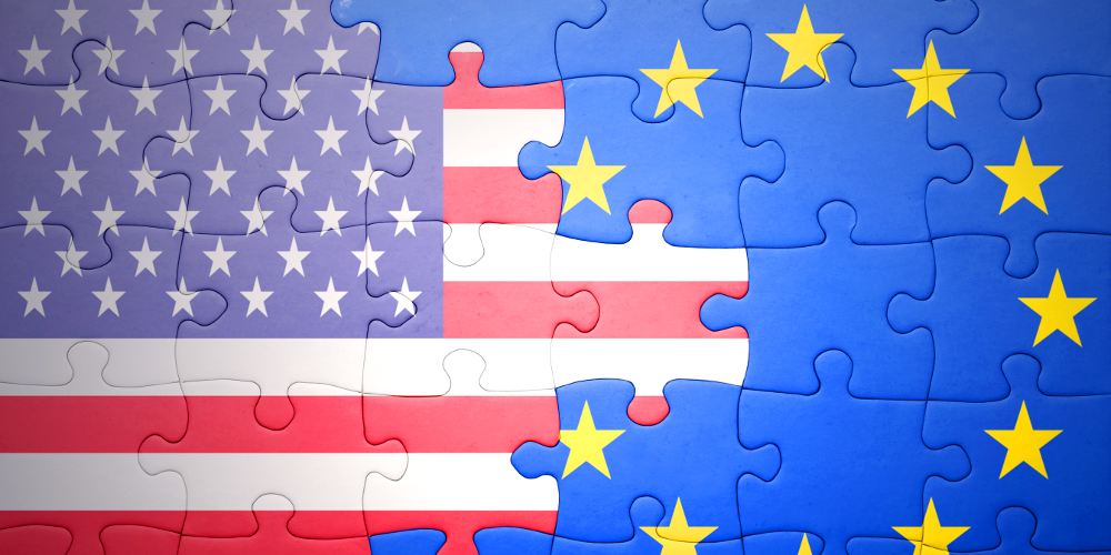 Puzzle EU US Fahne Flagge TTIP