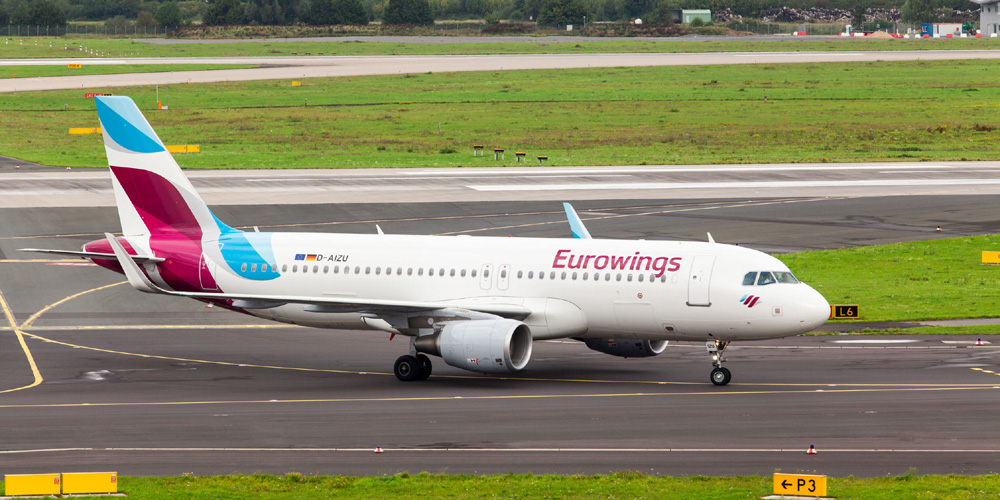 Germanwings Passagierflugzeug auf Rollfeld