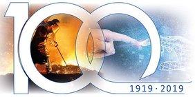 Schriftzug 100 Jahre ILO 1919 bis 2019