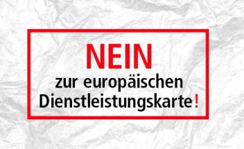 Logo Nein zur europäischen Dienstleistungskarte