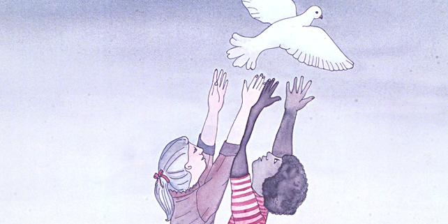 DGB Antikriegstag Frieden Friedenstaube Kinder Ostermarsch Ostermaersche
