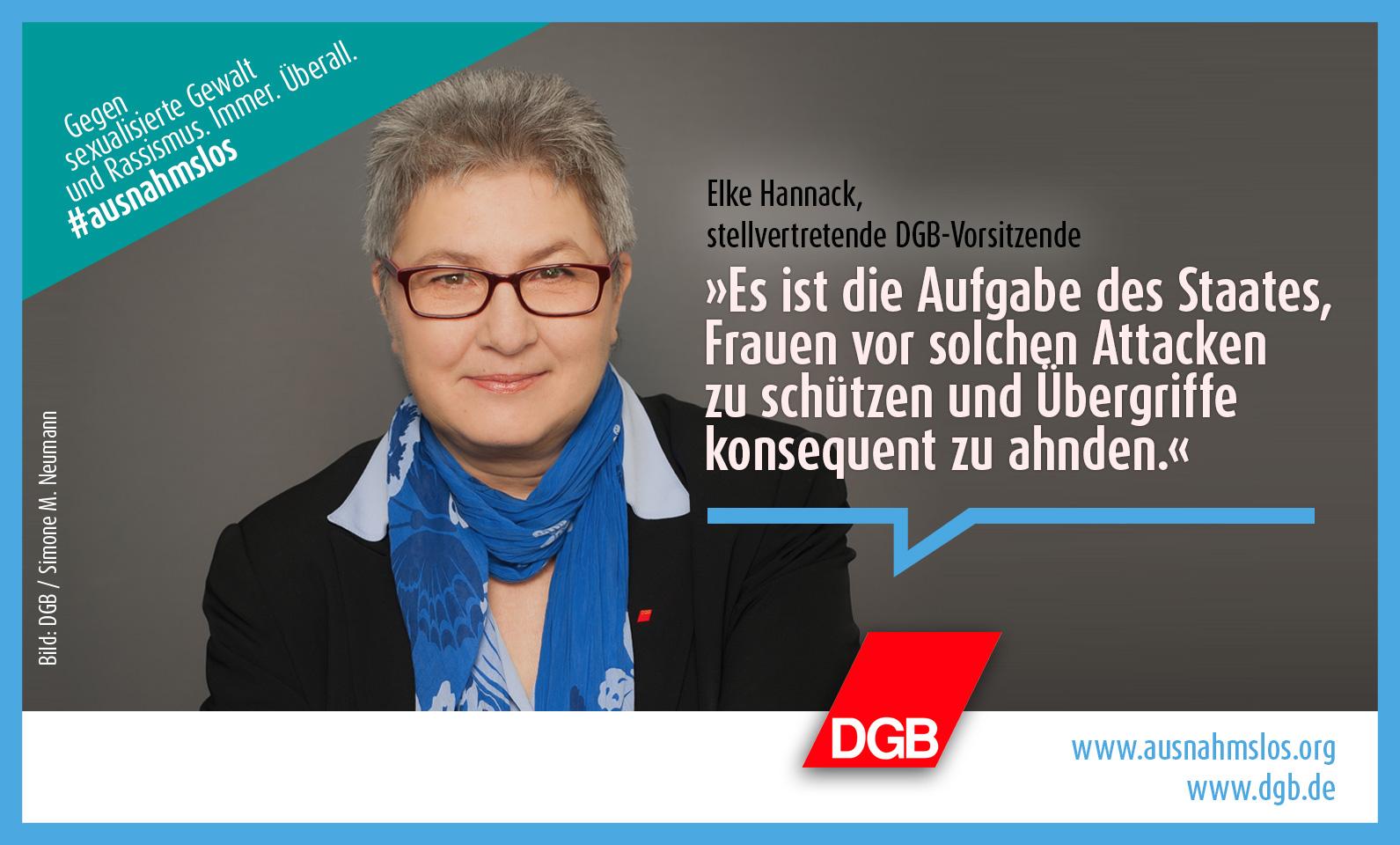 #ausnahmslos, Elke Hannack, stellvertretende DGB-Vorsitzende