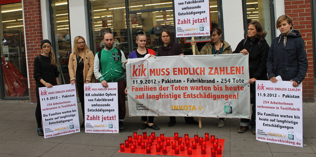 Protest gegen den Textildiscounter Kik