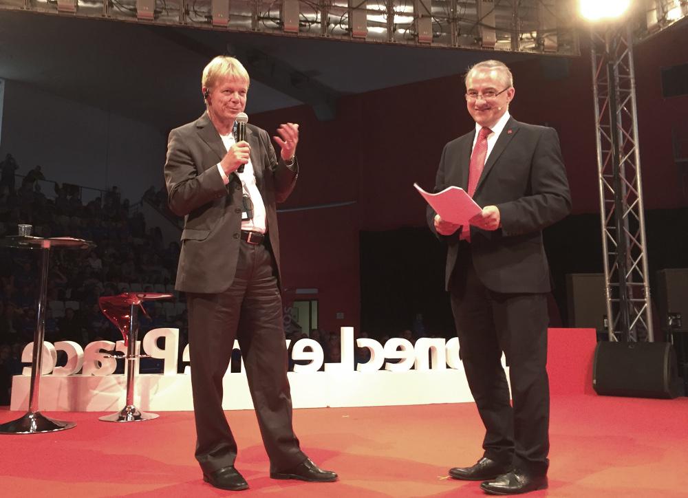Reiner Hoffmann (DGB) und Josef Středula (ČMKOS)