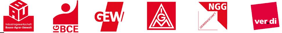 Logoleiste: DGB-Gewerkschaften im Handwerk