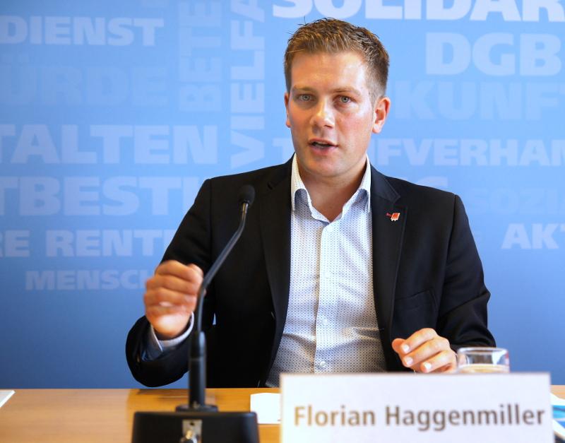 DGB-Bundesjugendsekretär Florian Haggenmiller