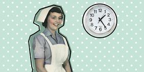 Krankenschwester im Retrolook