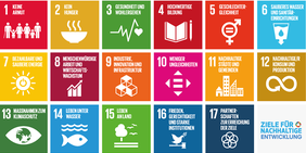 Grafik mit den 17 Nachhaltigkeitszielen der Vereinten Nationen