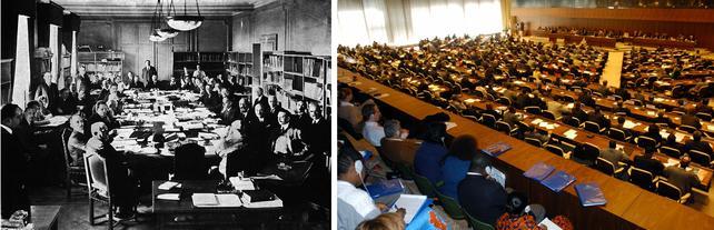 Sitzung des IAO Verwaltungsrats 1923 und 2003