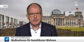 Stefan Körzell im Interview mit tagesschau24 zum Thema Wohnen am 25.03.2019
