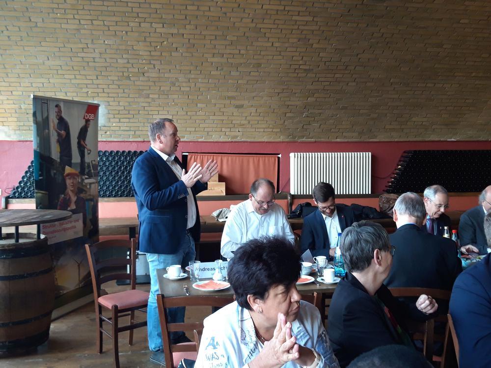 Andreas Scheidt  auf dem parlamentarischen Frühstück von DGB, IG BCE und ver.di