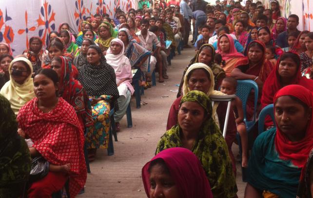Opfer der Rana Plaza Katastrophe in Bangladesch