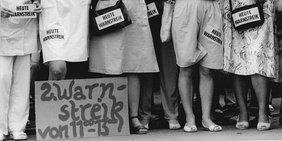 ÖTV-Streik Berlin 1990 für gleiche Bezahlung in Ost und West.