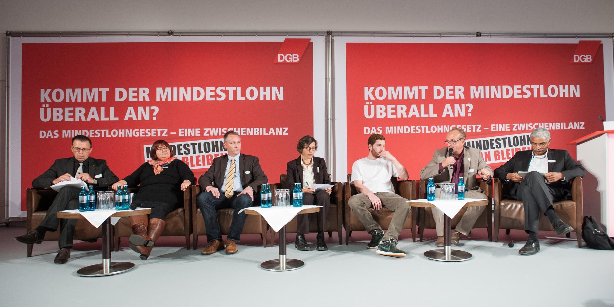 "Diskussionsrunde ""Mindestlohn in der Praxis"""