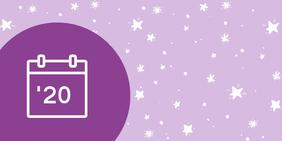 Kalender 2020 mit Sternen im Hintergrund: Zeit für den Jahresrückblick