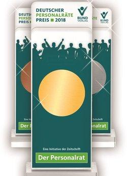 Preise / Pokale des Deutschen Personalräte-Preises 2018