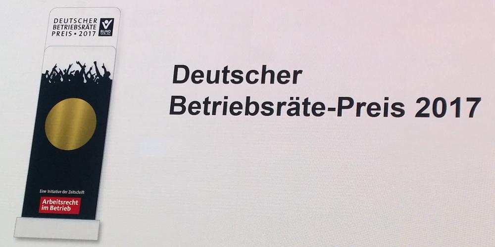 Dgb Bundesvorstand Teaser Deutscher Betriebsrätepreis 2017