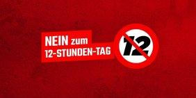 """Logo ÖGB """"Nein zum 12 Stunden Tag"""""""
