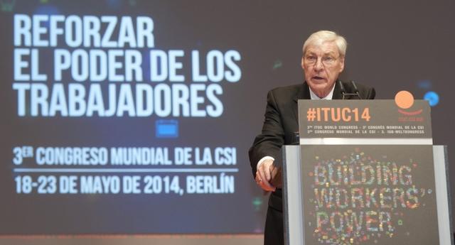 Michgael Sommer eröffnet als IGB-Präsident den 3. IGB-Weltkongress